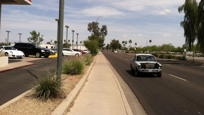 A stretch of McDowell Road in Scottsdale will see sidewalk improvments.