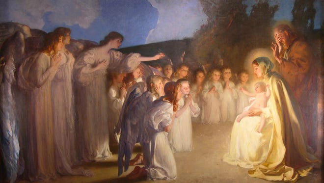 """Carl von Marr's painting """"Adoration of the Christ Child"""" (circa 1898). It is part of the von Marr collection at the Museum of Wisconsin Art in West Bend."""