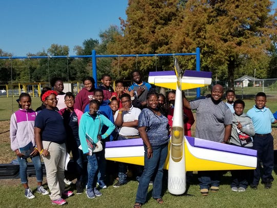 Students at J.S. Clark Magnet learned about model aviation