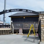 The entrance gate at Clemens Field in Hannibal, Mo.
