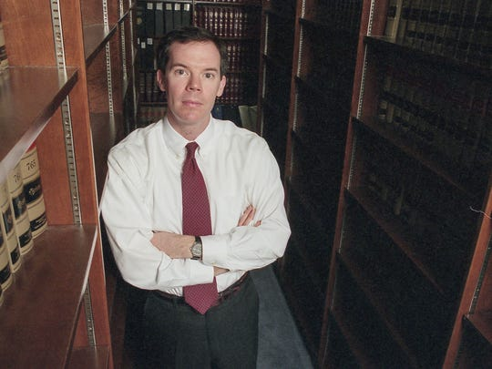 Prosecutor Colm F. Connolly in the offices of the U.S. Attorney's office in Wilmington February 2, 1999.