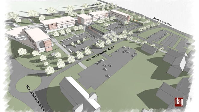 This is a rendering of the proposed 440-bed Palmetto North complex at FAMU.