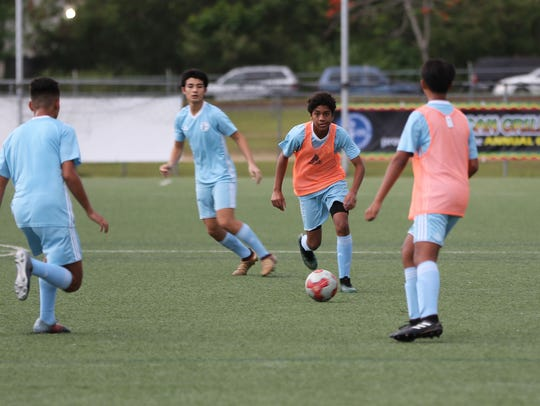 Nainoa Norton, part of the Guam U15 Boys National Team