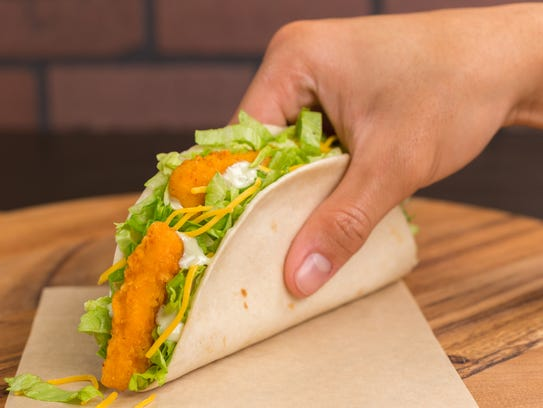 The crispy chicken taco is one of Taco Bell's new offering