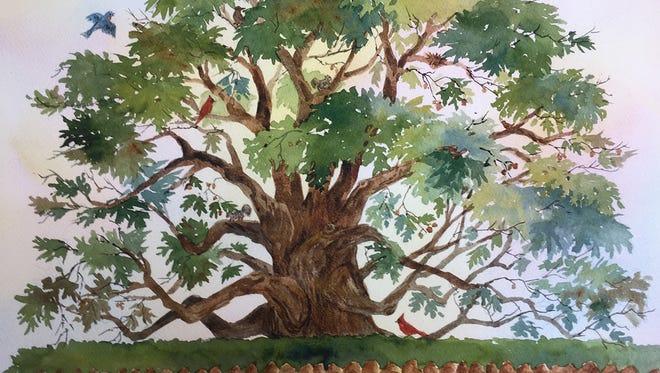 """Oak Tree Home"" by Linda Arnold."