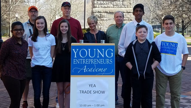 Members of the Corning Area Chamber of Commerce Young Entrepreneurs Academy's most recent graduating class.