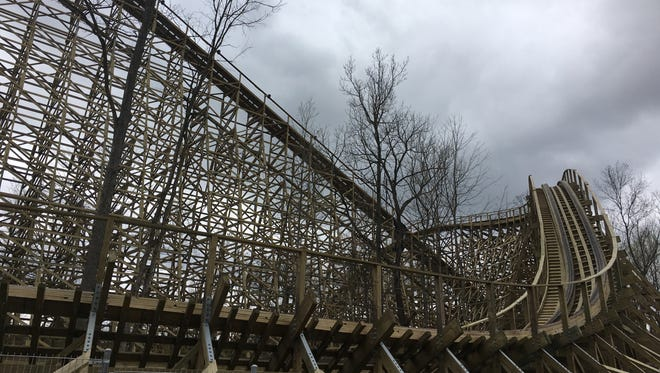 Mystic Timbers, the new wooden roller coaster at Kings Island.