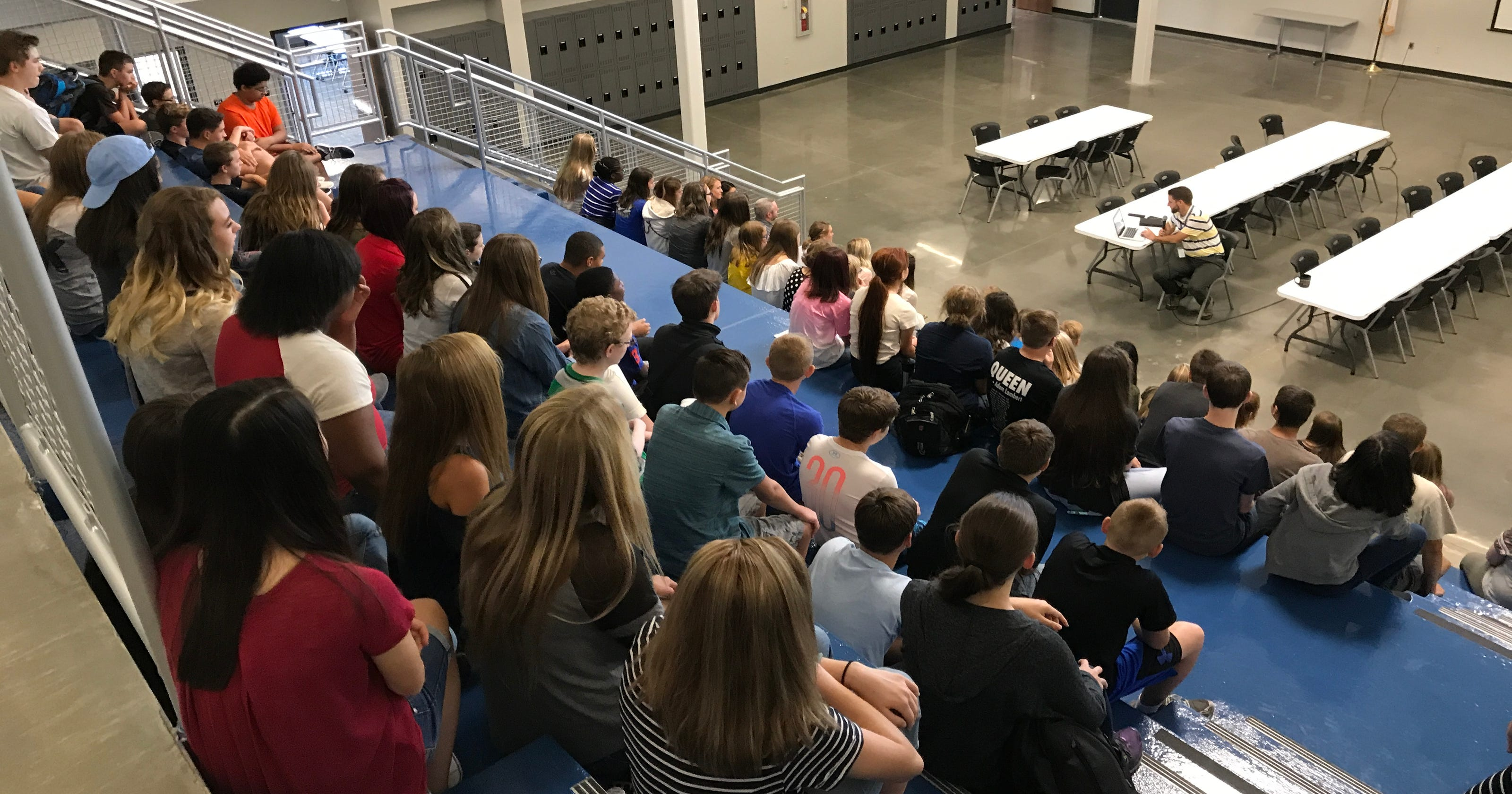 Smiles flood Evansville Christian High School on first day