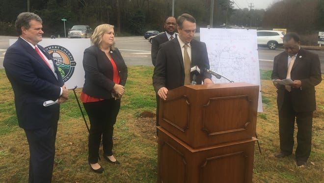 Montgomery County Assistant Engineer Kevin Boone speaks about the county's efforts to resurface nearly 50 miles of roadways on Dec. 19, 2017.