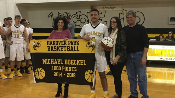Hanover Park's Michael Boeckel scored his 1,000th career point on Friday, Feb. 2.