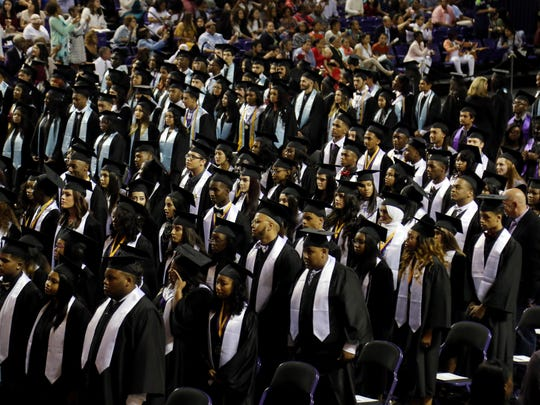 2017: Graduates participate in the Cane Ridge High School graduation held Monday May 15, 2017 at Lipscomb University's Allen Arena.