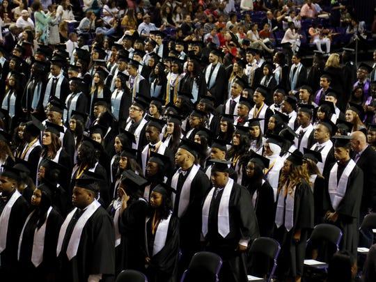 2017: Graduates participate in the Cane Ridge High