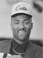 Andre Rison is presented as the 1989 Colts draft pick.