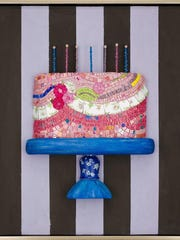"""This mosaic cake is one of several pieces Ruth Tyszka is featuring in an upcoming exhibit titled """"Just Desserts."""""""