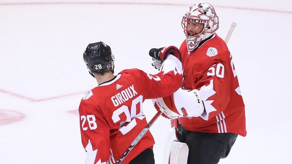 Claude Giroux and Team Canada have advanced to the semifinals.