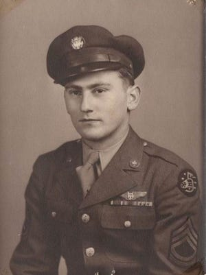 Sgt. Larry Lawfer, wearing the DFC ribbon on his jacket.