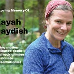 Black Dome Mountain Sports will hold a benefit Feb. 5 for the children of Kayah Gaydish, who died December in a climbing accident.