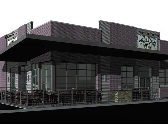 Rendering of Double Dogs Chow House to open July 9 at 8910 Kingston Pike