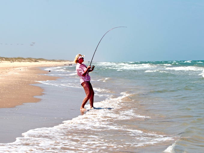 Miles of beaches along Mustang and Padre islands provide