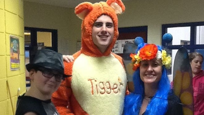 """Yes. That's """"Bachelor"""" Ben Higgins as Tigger at Baker Youth Club in Warsaw, Ind., where he volunteered."""