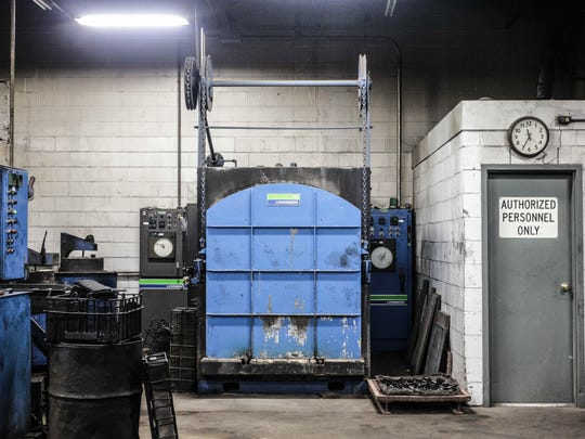 A large furnace at Circle City Cryogenics is used to temper material, the last step in cryogenically freezing and strengthening it.