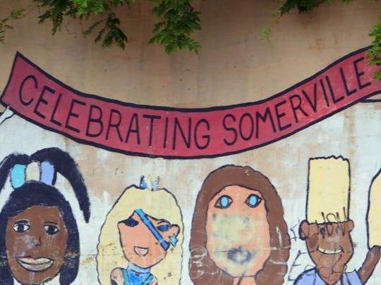 A mural in Somerville, Mass.