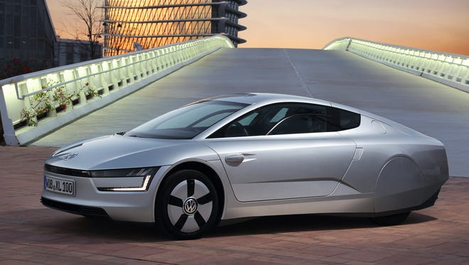 The VW XL1 is a Limited-production diesel-electric plug-in hybrid; two-seat, rear-drive, ultra-mpg vehicle, demonstrating the potential of current materials and technologies.