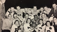 Rushville's 1959 regional championship team; Front