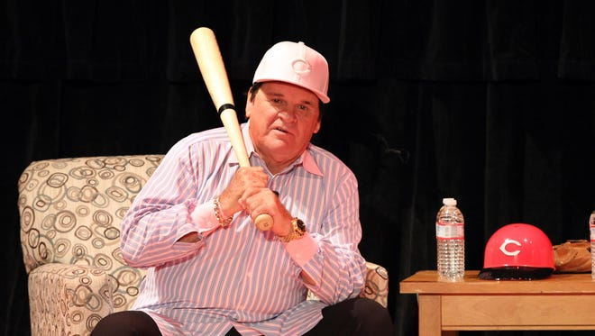 """Pete Rose entertained a crowd at the Taft Theatre with tales of his early days in baseball and jokes during """"An Evening with Pete Rose."""""""