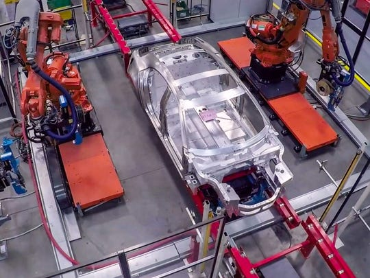 Karma has built about 20 car bodies for engineering tests at the factory in Moreno, CA.