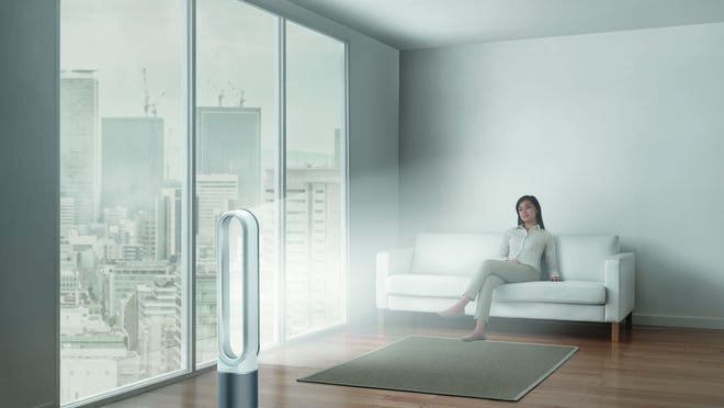 The Dyson Pure Cool™ Link purifier fan runs without blades and includes a HEPA filter to remove pollutants and allergens from the air.