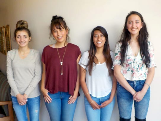 The four recipients  from Ruidoso High School who received