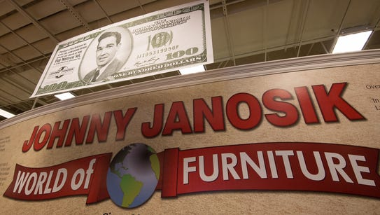 The Johnny Janosik World of Furniture Store in Laurel