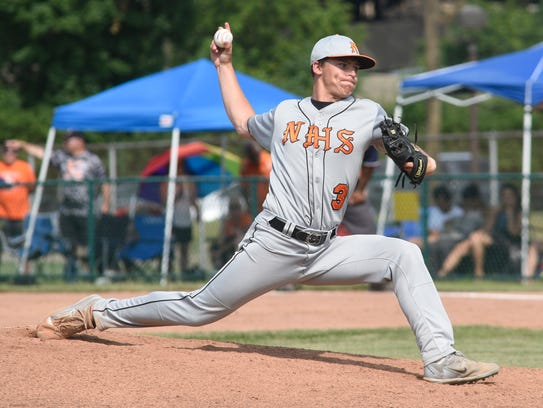 Northville pitcher Jonathan Michalak came in at the