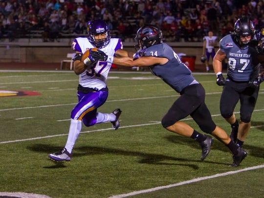 College football: Northern Iowa at Southern Utah, Saturday, September 16, 2017. Final score: SUU 24, UNI 21.