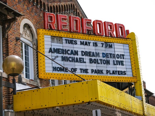 The marquee for singer Michael Bolton's film American