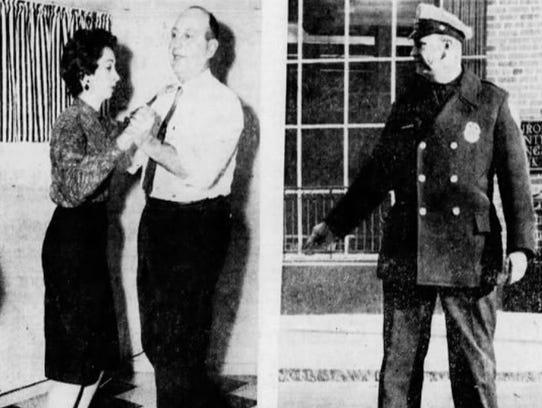 Police Officer Ralph Boryszewski in a 1962 Democrat