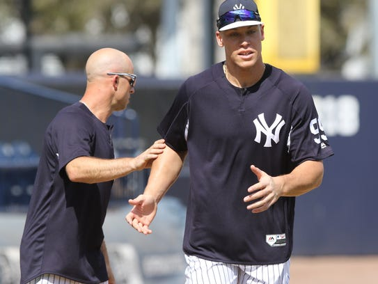 Yankees workout this afternoon. Brett Gardner and Aaron