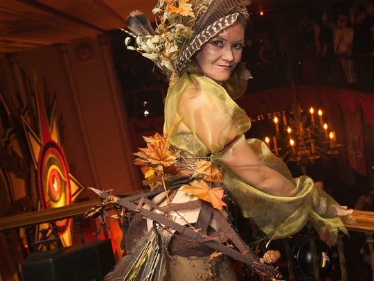 Lisa Cockburs of Toronto wore a Forest Sprite costume to Theatre Bizarre at the Masonic Temple on Saturday, October 17, 2015 in Detroit.