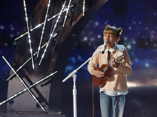 Grace VanderWaal sings in the semifinals round of NBC's