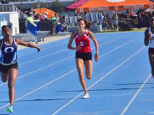Evangelical Christian School's Moriah Oliveira took runner-up spots in both the 200 meters and 400 in Class A on Saturday at state track meet in Bradenton.
