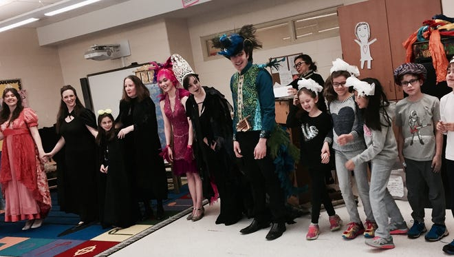 """Actors and children perform in a recent Opera Theatre of Montclair performance of """"The Magic Flute."""""""