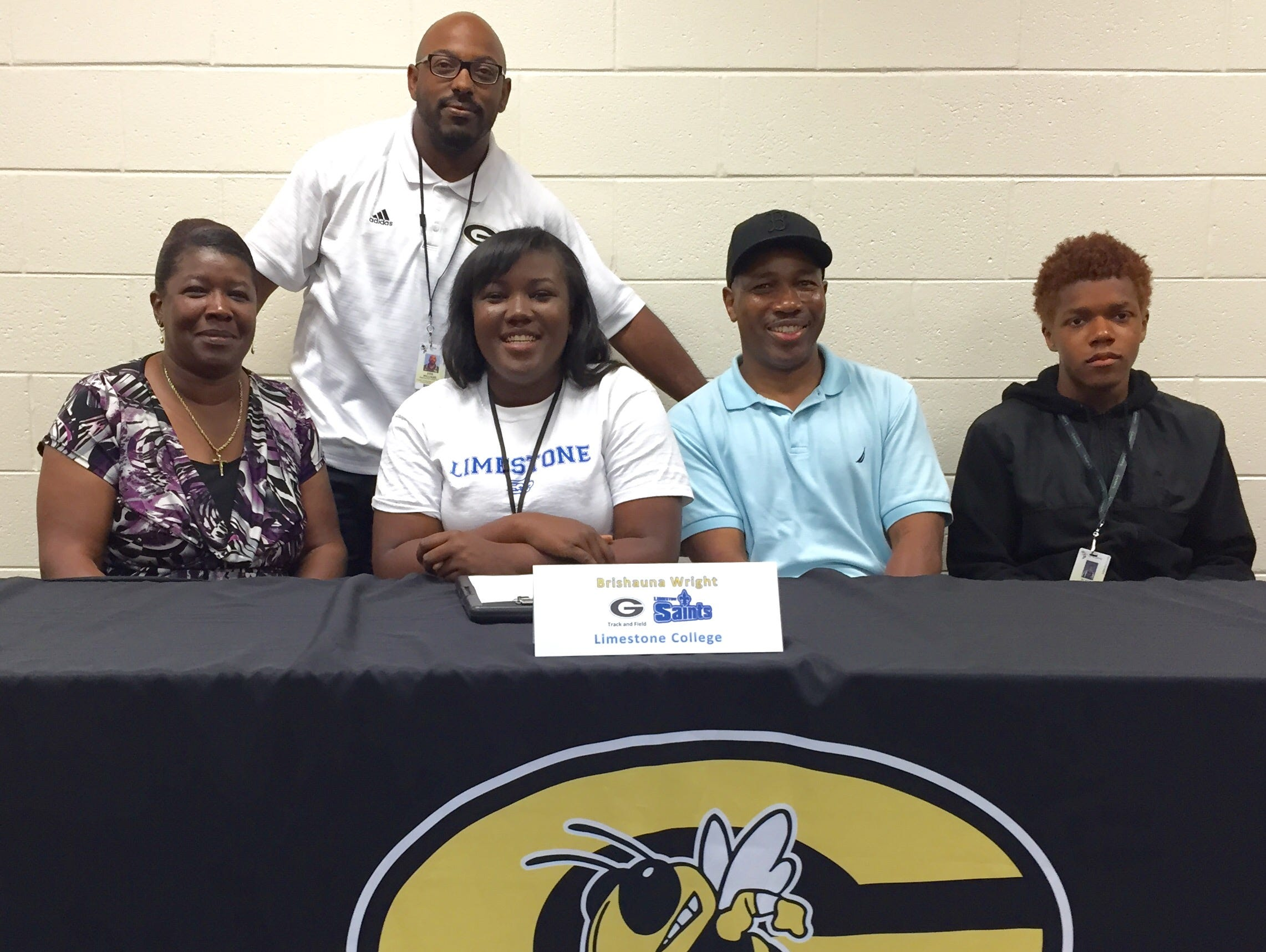 Greer High senior Brishauna Wright signed to continue her track and field career with Limestone College.