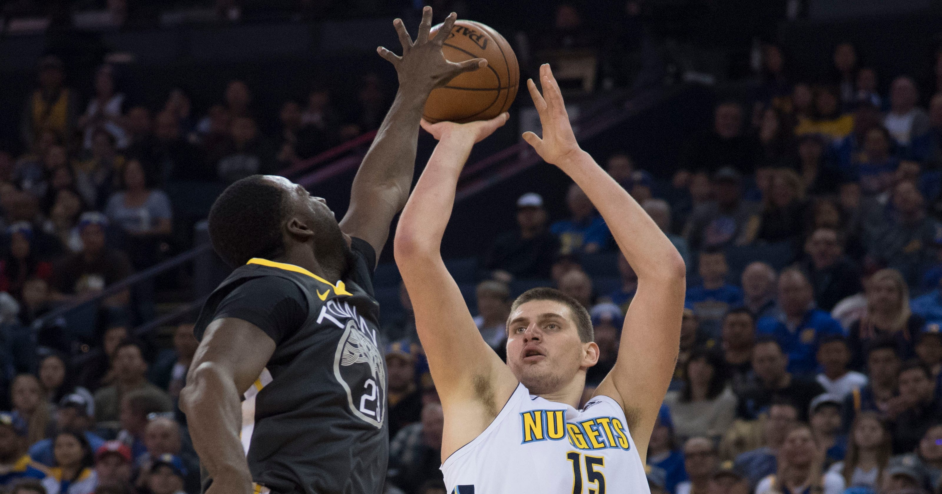 33aaf43d5dc Denver Nuggets stop Golden State Warriors  win streak at 11 games