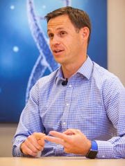 Executive Director Lincoln Nadauld explains how Intermountain Precision Genomics is using new science and technology to fight cancer, May 23, 2017.
