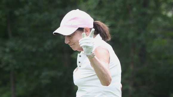 Cathy Williams golfs at Mohansic Golf Course in Yorktown
