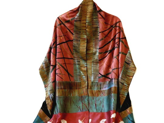 """""""No. 2 Shawl"""" by Pat Rued, who is taking part in the Door County Wearable Art Show at Sister Bay Village Hall."""
