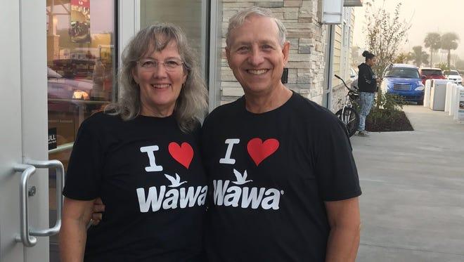 Loyal Wawa fans Joe and Mary Tomaro got to the new Indian River County  Wawa at 5:30 a.m.
