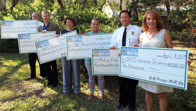 Gulf Breeze Will Do awarded more than $34,000 to community programs on Sunday, April 11, 2017.