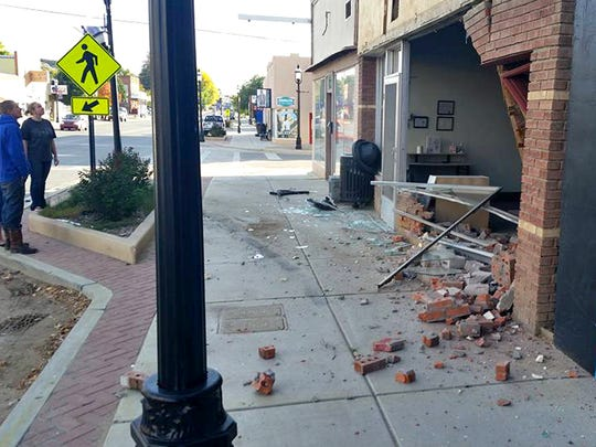 The Three Rivers Aikido storefront at 121 S. Main Ave. in Aztec was destroyed by a car on Monday.